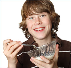 teen with bowl